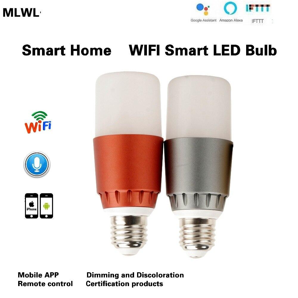 Купить с кэшбэком MLWX Smart WiFi Light Bulb 7W E27Dimmable Wireless WiFi Tuya Smart APP Remote Control Bulb Lamp Light For Echo Alexa