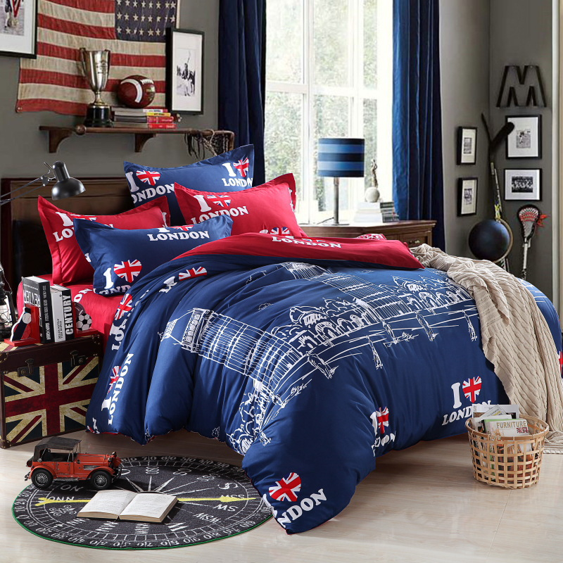 2016 bedding set 4pcs super king size thicker cotton. Black Bedroom Furniture Sets. Home Design Ideas