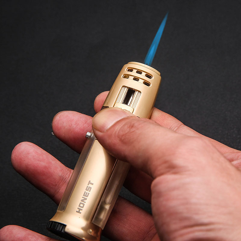 Push Up Strong Straight Flame Torch Lighter Butane Gas Lighter Smoking Tool Cigarette Lighter Gadgets For Men Gifts Cigarette Accessories     - title=