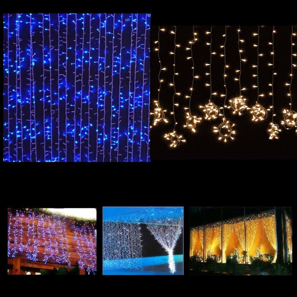 cc728fa7899 Precio de fábrica 3 3 M 300 cortina de luz LED string Año Nuevo carámbano  luces del banquete de boda de Navidad decoración de Navidad luces de la  cortina en ...
