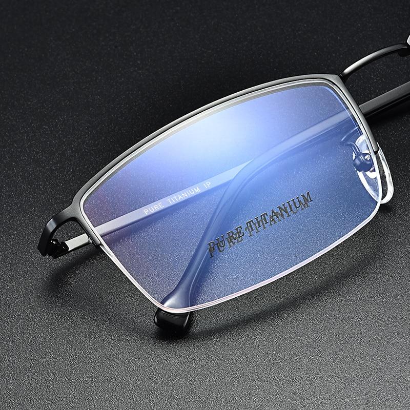 Pure Titanium Glasses Frame Men Prescription glasses Half frame Big size Eyeglasses frame 965 Optical glasses 57 20 145 in Men 39 s Eyewear Frames from Apparel Accessories