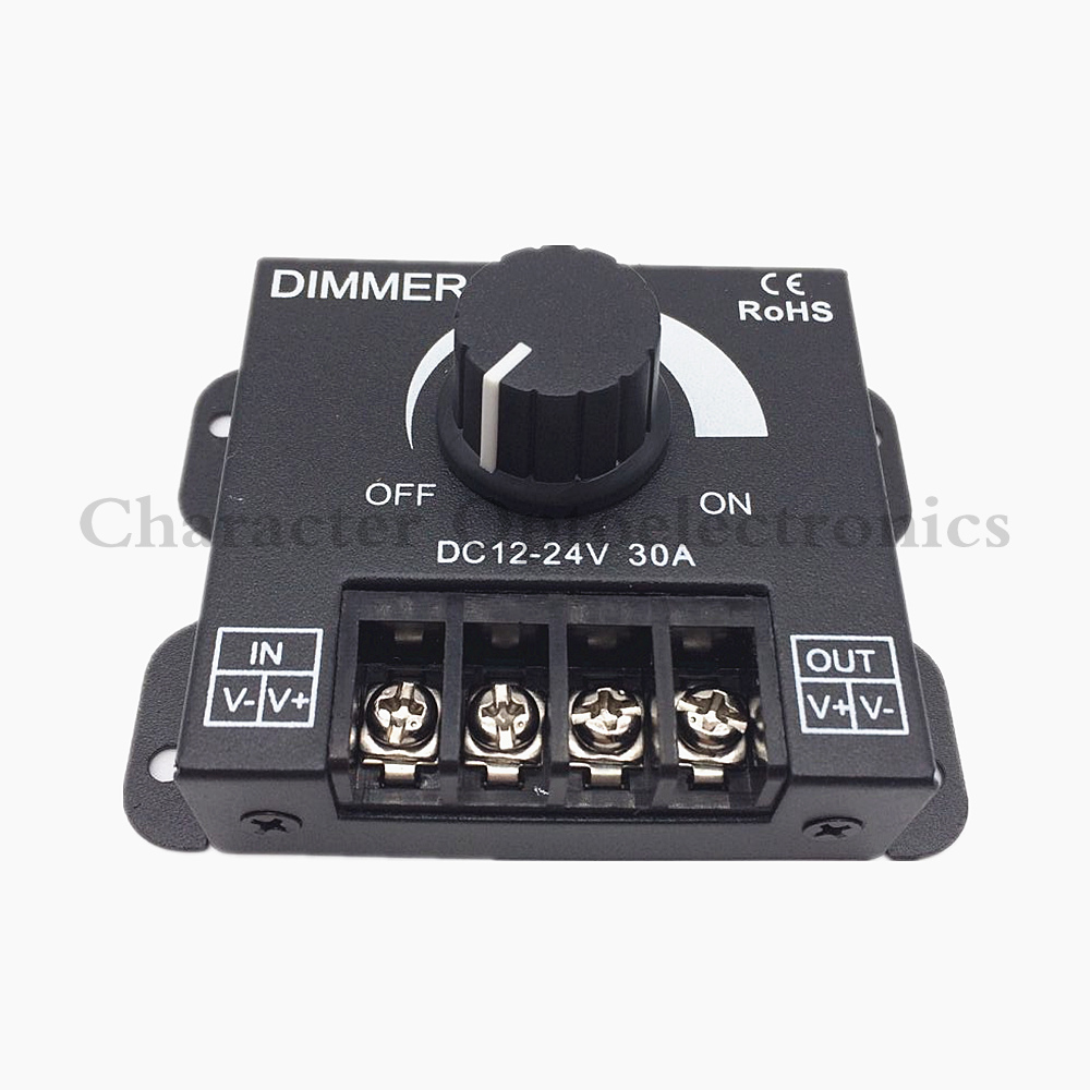 Lighting Accessories 5pcs Dc 12v 24v 30a Balck Led Dimmer Switch Brightness Controller For Single Color 5050 3528 5630 Led Lamp Strip Light Grade Products According To Quality