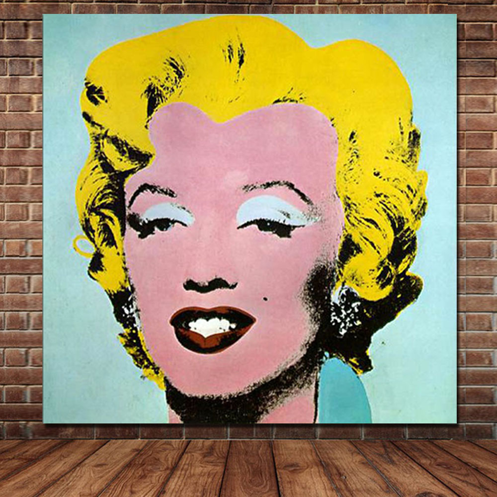 Modern Figure POP Art 100% Handpainted Vintage Marilyn Monroe Canvas ...