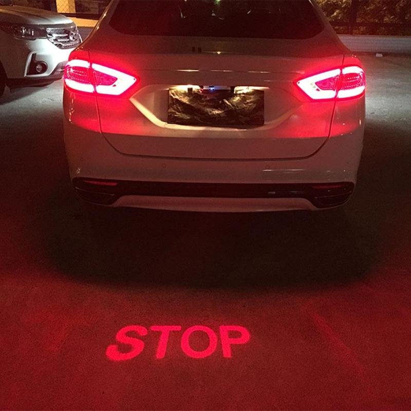 2019 Anti Kollision Hinten-ende Auto Laser Nebel Licht Auto Brems Parkplatz Signal Indikatoren Motorrad LED Warnung Licht Auto-Styling