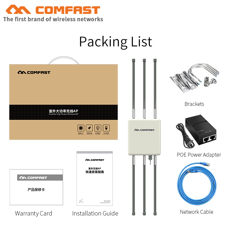 COMFAST 1750Mbps Wireless Outdoor AP POE Wifi Router Dual Band 5Ghz 2.4Ghz 360 Degree WiFi Cover Access Point Wifi Base Station