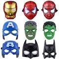 Освещенные Дети Человек-Паук Железный Человек Халк Бэтмен Superhero Хэллоуин Маска Партии Маски Мстители Маска Для День Защиты Детей Косплей