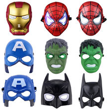 The Avengers Mask Batman Mask Superhero Masks Lighted Kids Spiderman Iron Man Hulk Cartoon Party Mask For Children's Day Cosplay(China)
