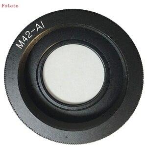 Image 2 - Foleto anillo adaptador de lente M42, cristal de M42 AI para lente M42 para montaje de Nikon con enfoque infinito, cámara DSLR de cristal d3100 d3300 d7100