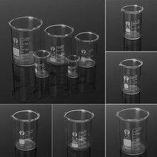 5 шт. лаборатории Стекло стакан набор 5/10/25/50/100 мл боросиликатных Стекло лаборатория измерительных Стекло посуда школьного Кабинета лаборатории Стекло стакан набор