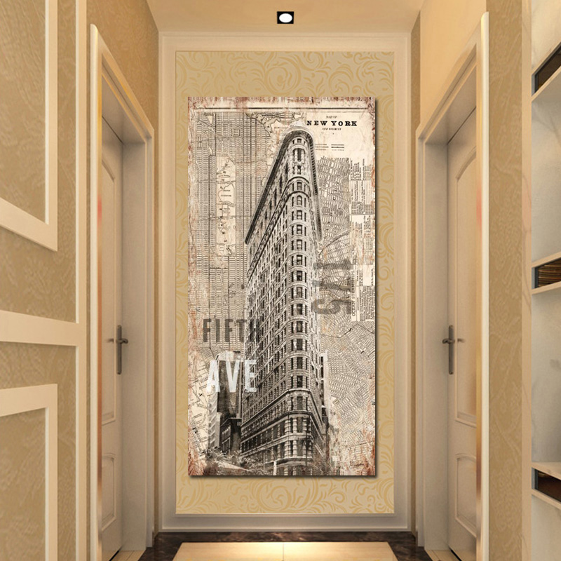 Empire State Building Canvas Painting Famous Modern New York  City Landscapes HD Print And Poster Wall Picture For Living Room