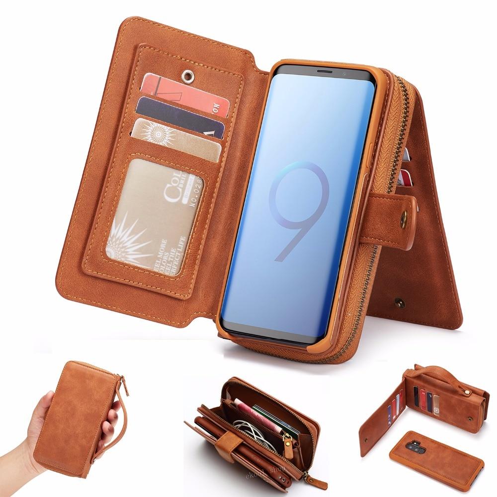 LRuiize portofel multifuncțional retro portofel din piele mobilă - Accesorii și piese pentru telefoane mobile