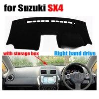 Car dashboard cover for Suzuki SX4 with storage box dashboard Right hand drive dashmat pad dash cover auto dashboard accessories