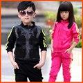 Дети Бег Одежда весна Осень Мальчики Hoodied Куртки Брюки Набор Детской Одежды Спортивный Костюм девушки костюм для 2-10 лет