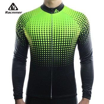 Racmmer-Camiseta De manga larga para Ciclismo, conjunto De Ropa De Ciclismo De...