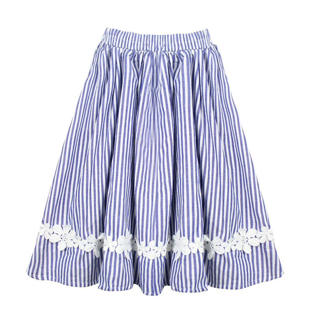 Free Shipping Baby Girls Kids Clothes Tutu Skirt Lace Flower Striped Ruffle Girl Skirts Children Long Cotton Pleated Skirt 0 14T