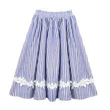 Frete grátis bebê meninas crianças roupas tutu saia renda flor listrado plissado menina saias crianças longo algodão plissado saia 0 14t