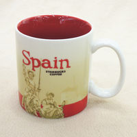 16oz Ceramic Coffee Mug Global Idol City Spain Collector Series Cup Bone China Best Gift