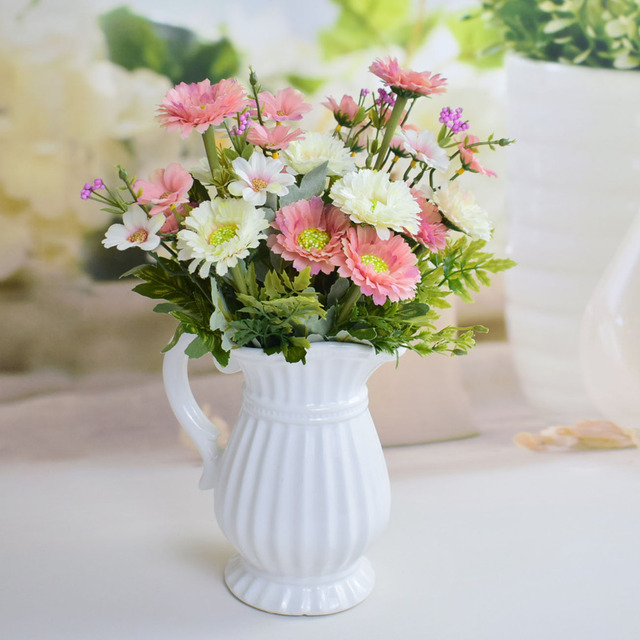 Silk Cornflower artificial flower bouquets for home table party ...