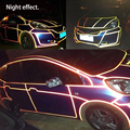 45M Whole Car Super Reflective Stickers Car Warning Stickers Car Decoration Strip Line 1CM Wide Exquisite Car Interior Mouldings