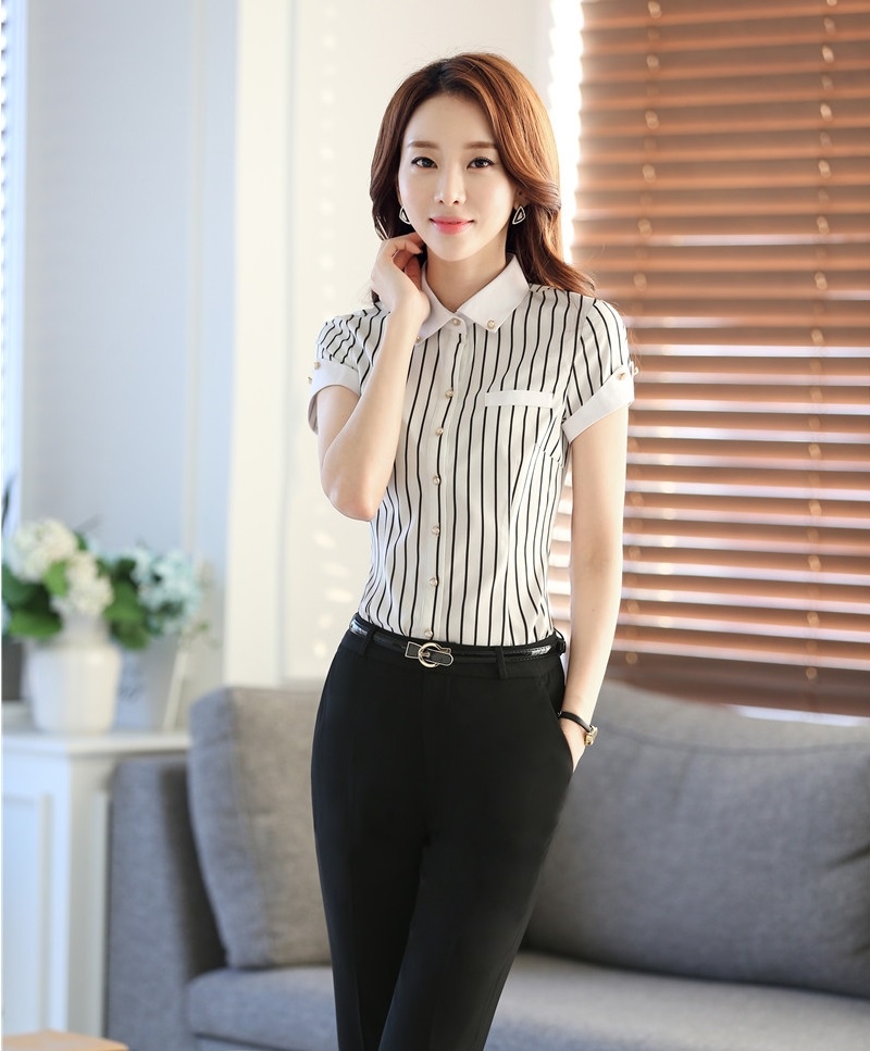 Formal Uniform Design Professional Female Pantsuits 2016 Summer Tops And Pants Ladies Office ...