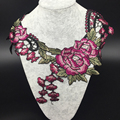 Colorful Embroidered Lace Neckline Collar Trimming Embellishment Applique NL061