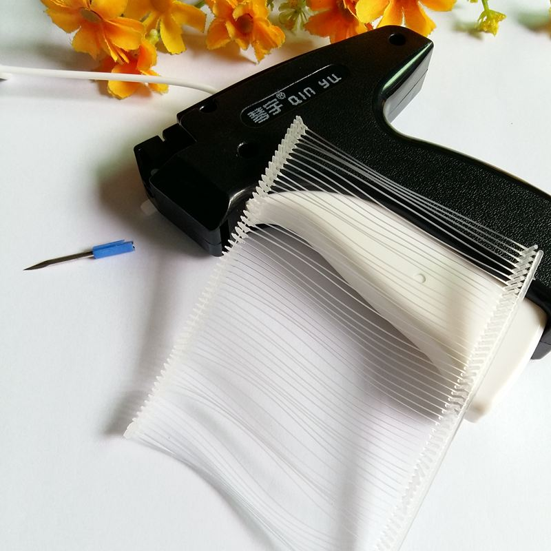 1pcs Tag Gun + 1000 or 5000 pcs 75mm Transparent Barbs Tagging Trademark Tag for Craft Tooling Clothes Garment Price Label ...