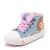 2017 de los bebés red canvas shoes invierno felpa kids jeans sport shoes niños casual shoes shoes infant girls warm térmica
