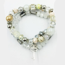 hanjing new Crystal Bead Bracelets for Women Vintage Bracelet Female Jewelry Key Natural Stone Charms Wristband Gift pulseira