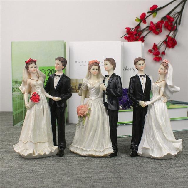 Just Married Bride And Groom Couple Figurine Resin Wedding Cake