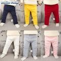 2017 Otoño Invierno Recién Nacido Bebé Pantalones Gruesos Caliente Pantalones del Color del caramelo Niña Pantalones Ropa de Bebé 0-2 años de bebé pantalones