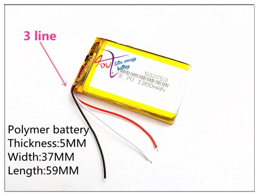 3 linie Liter energie batterie 3,7 V e straße route HD-X9 X10 7 zoll 1300 MAH drei linie 503759 navigator batterie genug 053759