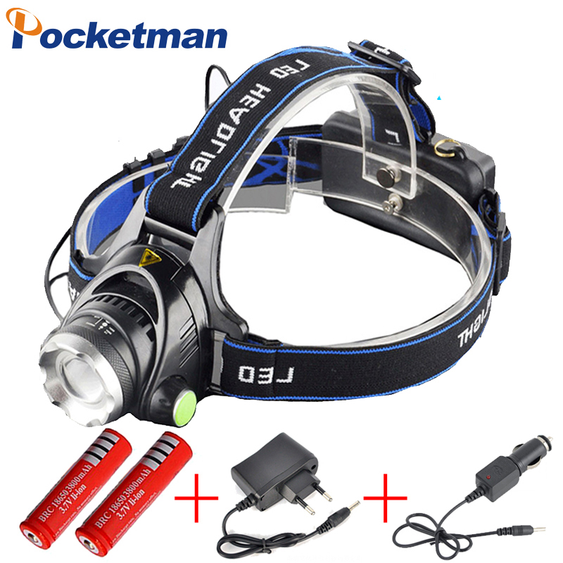3800LM Phare T6 LED Tête Lampe Phare Linterna Torche LED lampes de Poche Vélo Pêche Torche pour 18650 Batterie ZK92