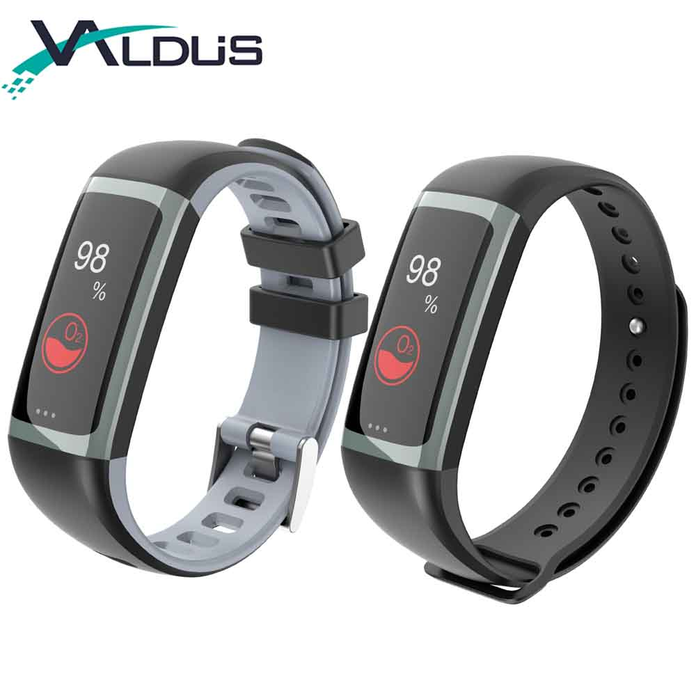 Valdus G26 Smart Bracelet Fitness Tracker with Heart Rate Monitor Blood Pressure Blood Oxygen Monitor for
