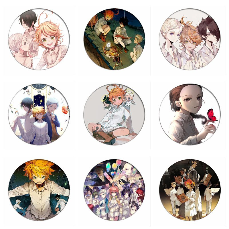 New The Promised Neverland Emma Cosplay Badges Norman Brooch Ray Icon Collection Bag Breastpin For Backpacks Clothing