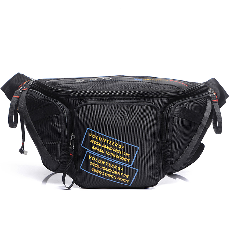 Waterproof Oxford Men Waist Chest Pack Bag Casual Purse Multi-Pocket Fashion Hip Bum Loop Belt Pack Military Male Fanny Bags