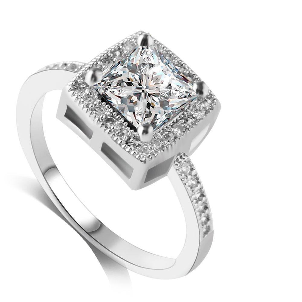 298a3741642 US $1.86 40% OFF|F & U Nieuwe Collectie Zomer Collectie Populaire Stijl  Grote Clear Plein Crystal Verlovingsring voor Cadeau meisje in F & U Nieuwe  ...
