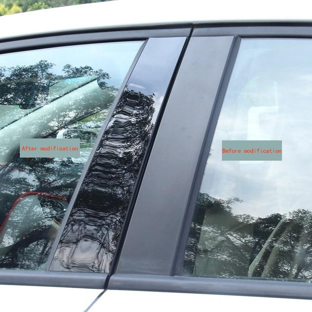 Car window trim PC mirror is suitable for modern IX35 Yuena led Rena modified column post body decoration strip