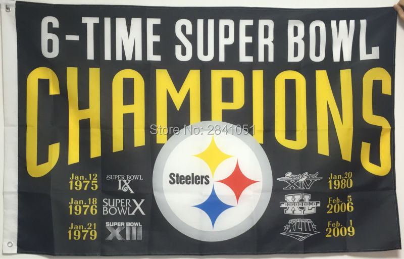 Pittsburgh Steelers 6 Time Super Bowl Champions Usa Team