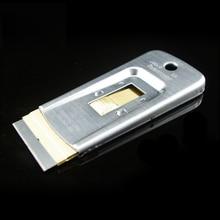 Free shipping 4.5*9.5cm Razor Blade Scraper, Glass cleaning spatula Scraper with razor blade for vinyl glue removing MX-138