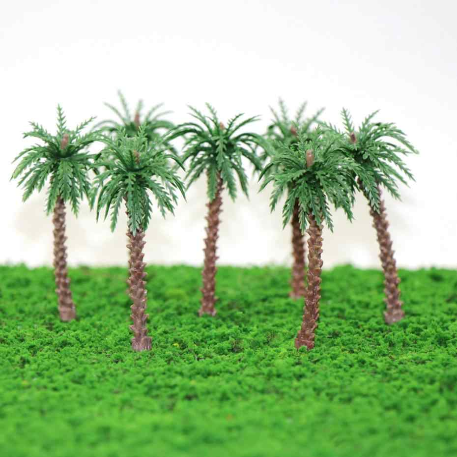 NEW 20pcs 45mm-170mm Height Model Palm Trees Model Layout Train Scale 1:400-1:50 model train ho scale YS02 railway modeling