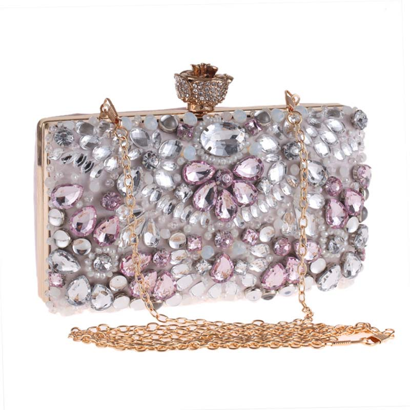 Fashion Crystal Clutches Evening Bags Women Party Purse Luxury Clutch Bag Ladies Night Bags Wedding Bag Chain Handbags free shipping a15 36 sky blue color fashion top crystal stones ring clutches bags for ladies nice party bag