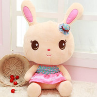 40CM One Piece Free Shipping Super Cute Bunny With Small Hat Plush Toy High Quality PP Cotton Stuffed Rabbits Dolls Kids Toys