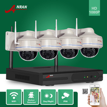 ANRAN Surveillance CCTV HDMI 4CH NVR VandalProof Dome Waterproof IR 2.0 MegaPixel Wireless WIFI 1080P Network IP Camera System