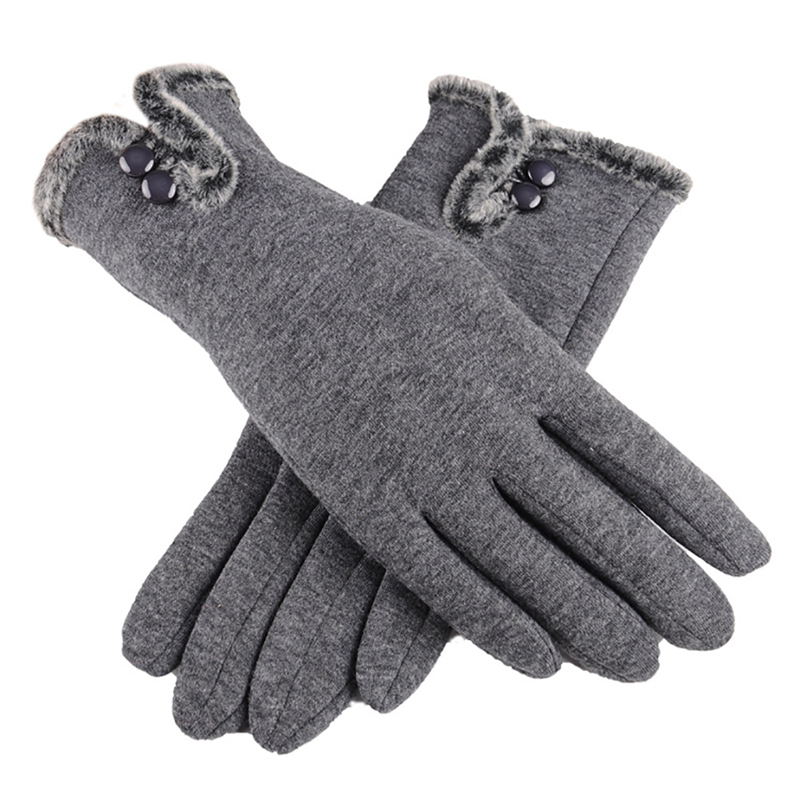 NAIVEROO Waterproof and Warm Touch Screen Gloves made of PU Leather and Conductive Fibers for Women Suitable for Spring and Winter 41