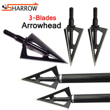 20/30/50pcs 3 Blades Arrowhead 100Grain Arrow Head Broadhead Target Point Tips For Shooting Archery Hunting Accessories