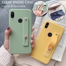 Wrist Strap Hand Band Silicone Case For Xiaomi Mi A3 CC9 E 9T Pro 9 SE 8 A2 Lite Redmi K20 7 7A Note 5 6 Cover