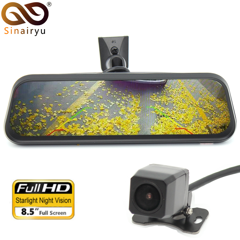 Gesture operation Dual Lens FHD 8.5 Car Bracket DVR Camera Rearview Mirror Recorder For Kia K2 K3 K4 K5 Rio Ceed Soul Cerato bigbigroad for kia sportage k5 k4 k3 carens k2 soul shuma kx3 fhd 1080p car wifi dvr video recorder dash cam car black box