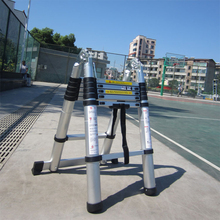 1,9 м+ 1,9 м Портативная Алюминиевая аллоителескопическая лестница с шарниром многофункциональная Выдвижная Прямая Лестница регулируемая лестница