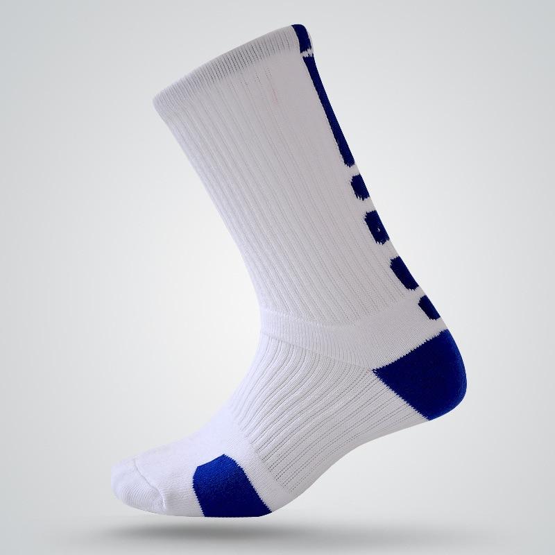 Men Women dh Sports Socks Towel Bottom Warm Basketball Socks Anti Slip Cycling Climbing Soccer Runing Socks White Mid Calf Sox