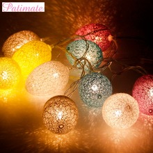 Patimate LED 1.8m 10 Lights Plastic Easter Eggs String Happy Decor Favors Festival Party Supplies Battery Lamps